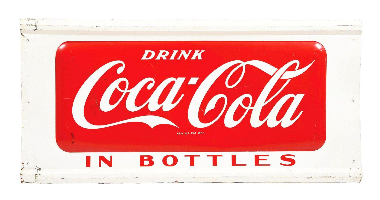 DRINK COCA-COLA IN BOTTLES SIGN.