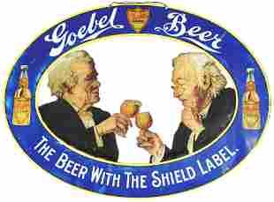 FANTASTIC GOEBEL BEER DIECUT SIGN.