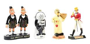 LOT OF 4: FIGURAL COUNTER TOP ADVERTISING PIECES.