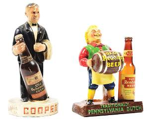 LOT OF 2: COOPER'S AND OLD READING BEER COUNTER TOP