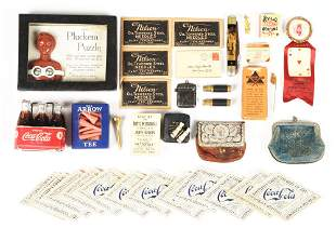 LOT OF MISCELLANEOUS ADVERTISING ITEMS.