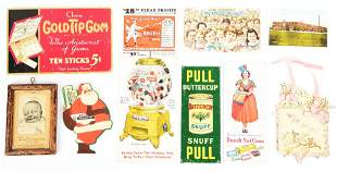 LOT OF 9: SMALL MISCELLANEOUS ADVERTISING ITEMS.