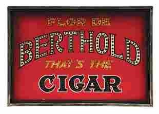 NEAR MINT PUNCHED TIN BERTHOLD CIGAR LIGHT-UP.