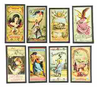 LOT OF 8: TOBACCO ADVERTISEMENTS.