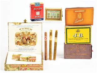 LOT OF 6: CIGARETTE AND CIGAR ITEMS.