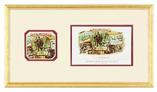 """FRAMED """"OUR SPORTS"""" AND """"HENRY G"""" CIGAR LABELS IN"""