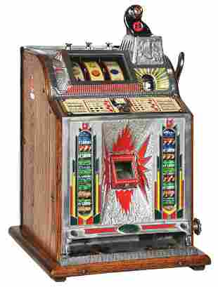 5¢ MILLS CONFECTION VENDER SLOT MACHINE WITH SKILL