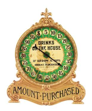 """PAGE MFG CO. """"DRINKS ON THE HOUSE"""" TRADE STIMULATOR."""