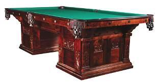 BRUNSWICK-BALKE-COLLENDER CABINET #1 ANTIQUE POOL TABLE