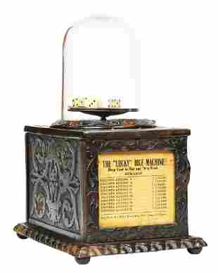 """1¢ """"LUCKY"""" CAILLE WINNERS DICE CIGAR TRADE STIMULATOR."""