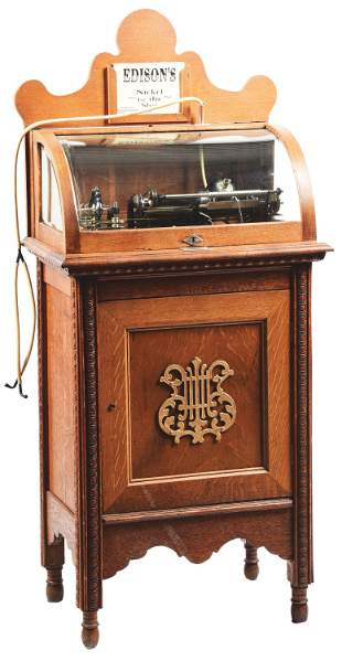 """5¢ EDISON CLASS """"M"""" COIN OPERATED PHONOGRAPH."""