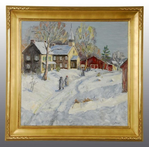 10: Oil on Board Painting by Walter Emerson Baum.