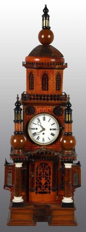 16: Handmade Key-Wind Clock Tower.