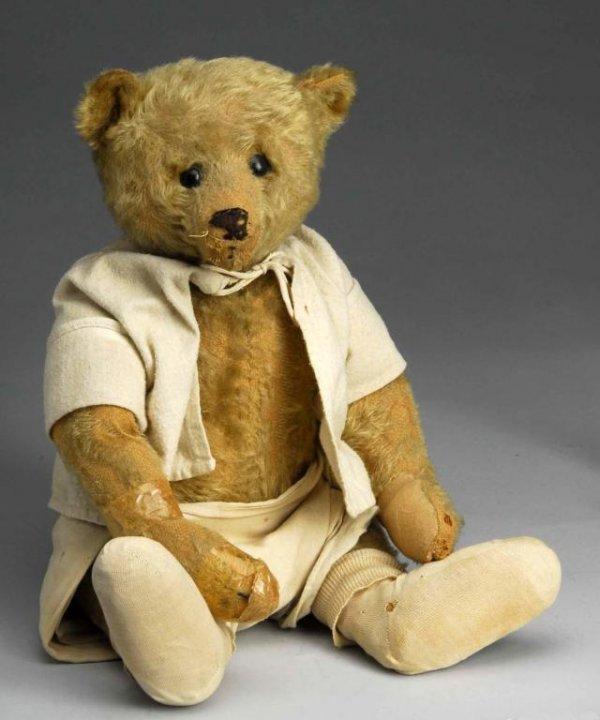 1001: Early Steiff Mohair Bear.