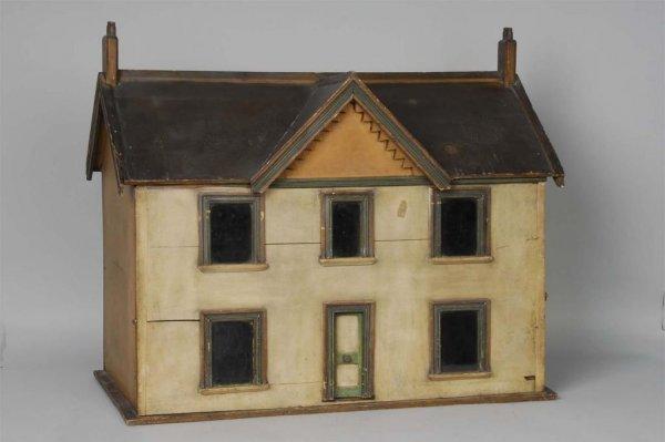 1006: Wooden Folk-Art Dollhouse.