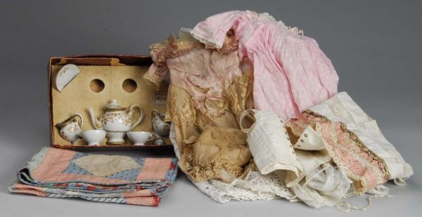 1015: Lot of Antique Doll Clothing and Accessories.