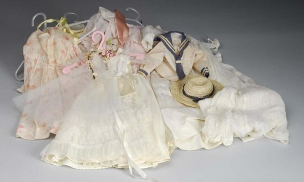 1017: Lot of Vintage Doll Clothing.