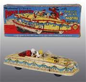 1866: Tin Marx Disney Parade Roadster Wind-Up Toy.