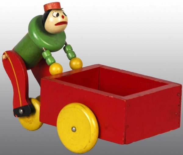 2045: Fisher Price No. 740 Push Cart Pete Toy.