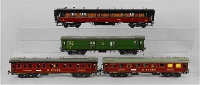 3197: Set of 4 Wilag Switzerland Modern Passenger Cars.