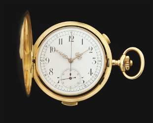 18K GOLD SWISS QUARTER-HOUR REPEATING CHRONOGRAPH H/C