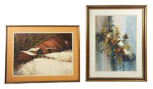 LOT OF TWO NEW JERSEY WATERCOLORS.