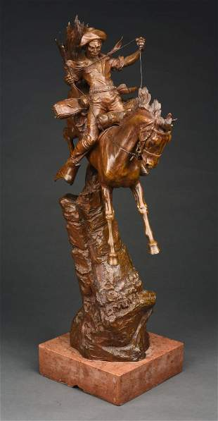 FOR DEATH FOR GLORY BRONZE SCULPTURE.