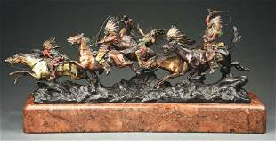 THE CHASE BRONZE SCULPTURE.