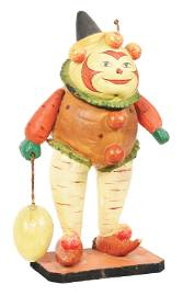 EXTREMELY RARE HALLOWEEN VEGETABLE MAN CANDY CONTAINER.