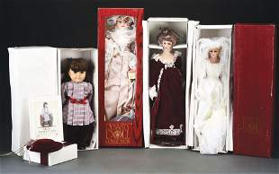 LOT OF 4: CONTEMPORARY DYNASTY DOLL COLLECTION.