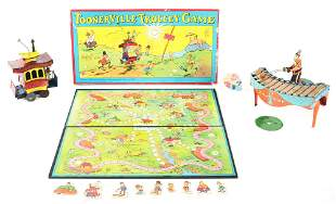 LOT OF 3: ZILOTONE, TOONERVILLE TROLLEY, AND GAME.