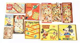 LOT OF 5: MOSTLY WALT DISNEY CHARACTER BOARD GAMES.