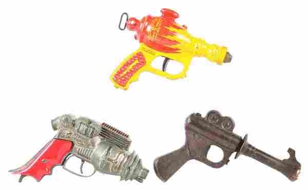 LOT OF 3: VINTAGE PRE-WAR SPACE TOY GUNS.