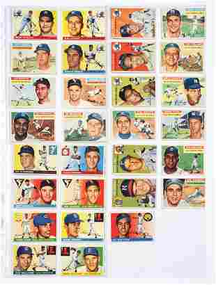 LOT OF OVER 100 VARIOUS 1950'S TOPPS BASEBALL CARDS.