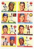 LOT OF 8: TOPPS 1955 BASEBALL CARDS.