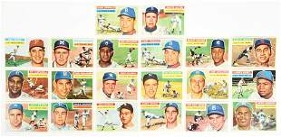 LOT OF 20: TOPPS 1956 BASEBALL CARDS.