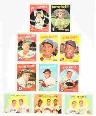 LOT OF 11: 1959 TOPPS BASEBALL CARDS.