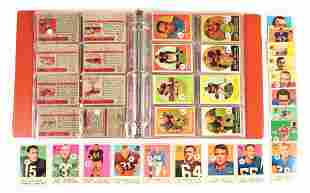LOT OF OVER 100 TOPPS 1950'S NFL FOOTBALL CARDS.