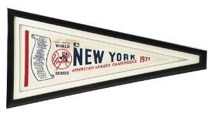NICELY FRAMED 1977 NEW YORK YANKEES AMERICAN LEAGUE