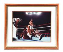 FRAMED PHOTO OF MUHAMMED ALI FROM GEORGE FOREMAN'S