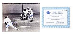 AUTOGRAPHED PHOTO OF BUCKY DENT'S FAMOUS HOME RUN V.