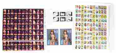 LOT OF 16: VARIOUS UNCUT CARD AND STICKER SHEETS.