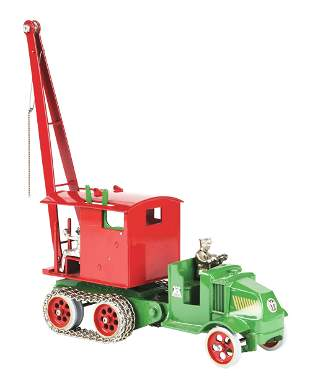 LATER CASTING CAST IRON MACK FRONT STEAM SHOVEL TOY.