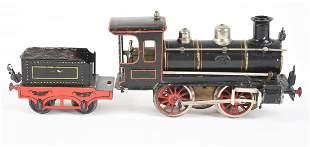 GERMAN MARKLIN HAND-PAINTED I GAUGE TRAIN ENGINE.