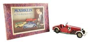 GERMAN MARKLIN NO. 7 CLOCKWORK RACE CAR.