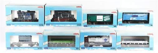 LOT OF 8: CONTEMPORARY MARKLIN I-GAUGE TRAIN ENGINES