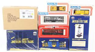 LOT OF 7: AMERICAN FLYER TRAINS.