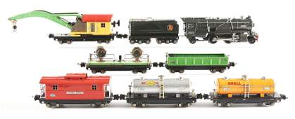 LOT OF 8: NO. 263-E LOCOMOTIVE AND 800 SERIES ROLLING