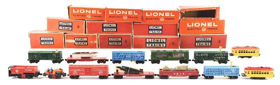LOT OF 13: TROLLEYS AND OTHER PIECES OF ROLLING STOCK.