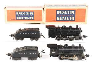 LOT OF 2: LIONEL ENGINES AND TENDERS.